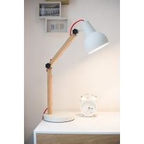 Study Desk Lamp valge